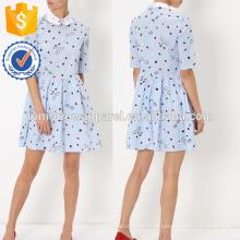 Nova Moda Azul E Branco Stripe Collared Dress Com Cara Fabricação Atacado Moda Feminina Vestuário (TA5280D)