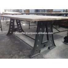 cast iron leg dining table