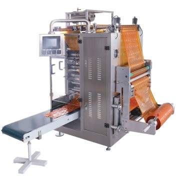 Multi-line liquid packing machine