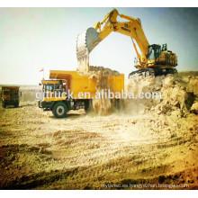 Capacidad de carga de 80t camión volquete de la mina de 6x4 Shacman / camión de la explotación minera