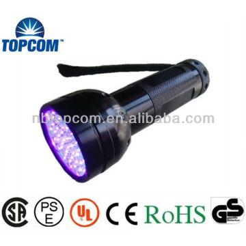 Aluminum uv led flashlight