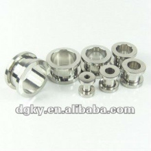stainless steel tunnel jewelry custom ear plug piercing