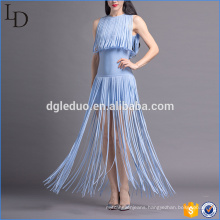 Simple tassels style trendy sexy fashion girl women party dress