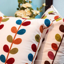 Wohnaccessoires Kissenbezug Stickerei Blätter Kissen Kissen