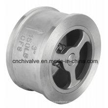 Válvula de retención de la oblea del resorte del acero inoxidable H71 150lb