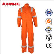 passer EN 11612 pas cher orange chaudière costumes combinaison vêtements de travail