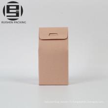 Sacs de papier cadeau kraft coloré avec qindow clair