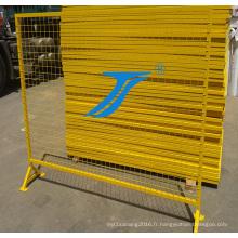 Treillis métallique soudé de haute visibilité / clôture provisoire