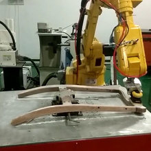 Wood chair grinding sanding abrasive force control system