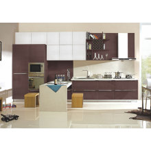 Liner Style High Gloss Lacquer Finish Kitchen Cabinet
