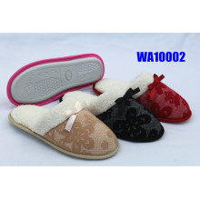Women's Fashion Lace Winter Binding Indoor Slippers