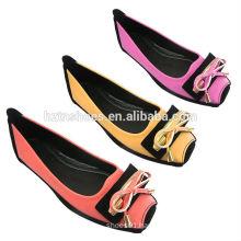 China factory soft PU fashion ballerina shoes flat women shoes