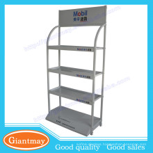 4 tiers luxury custom high quality lubricant oil display stand