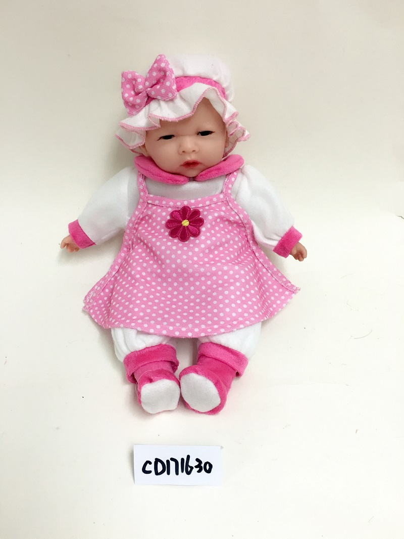 White hat sleeping doll