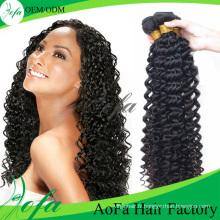 Extension de cheveux humains Remy de cheveux vierges de Weavon 100% non transformés
