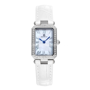 White strap fashion quartz watches for women