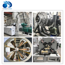 PVC PP PE plastic pipe machine extrusion making line