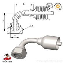 90 ° Bsp 60 ° Konus Hydraulische Einteilige Schlauchverschraubung (22691y)