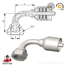 90° Bsp Female 60° Cone Hydraulic One Piece Hose Fitting (22691y)