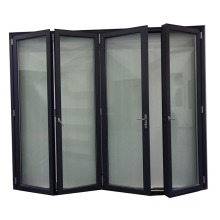 Grey color 5mm double tempered glass aluminum glass folding door