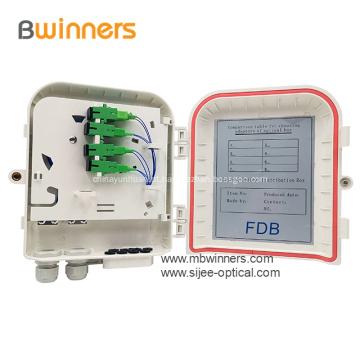 8 núcleos de parede e caixas de terminação de fibra de montagem em poste