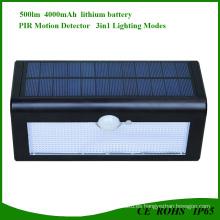 Luces de pared solares al aire libre de la yarda para el paso de jardín con 36 LED 500 lúmenes