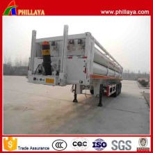 Type de levage avant Tri-Axle 8 cylindres CNG Tube Semi Trailer