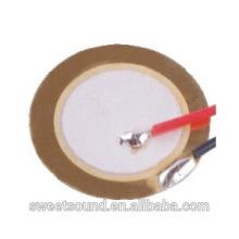 Fábrica de guangdong piezo cerámica fina 12mm 9.0khz fino y ligero pzt piezoeléctrico