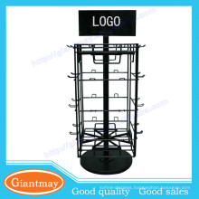 4 sides 360 rotating wire peg countertop display rack spinner