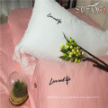 Premium pink bedding article hotel linen duvet cover sets