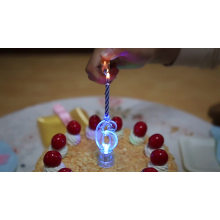 Hot sale custom LED flashing number birthday candles