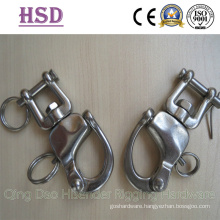 Swivel Snap Shackle with Jaw, Fixed Snap Shackle, Swivel Snap Shackle with Eye End
