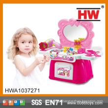 Plástico de alta qualidade Pretend Play Cômoda Criança Rosa