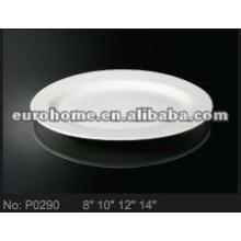 Plateau de plats de poisson en porcelaine en céramique en céramique (No.P0290)