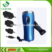 Phone charger hand crank led dynamo flashlight,led emergency flashlight