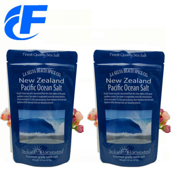 Custom resealable plastic salt packaging bags with ziplock