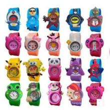 Yxl-352 Cute Silicone Watch Colorful Jelly Slap Watch Animal Ketty Panda Bird Sleep Kids Slap Watch