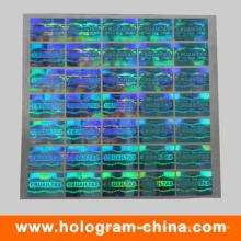 Blauer 3D Laser Security Hologramm Aufkleber