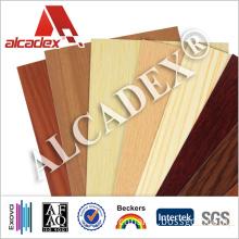 Waterproof Wood Panels Indoor Building Material Aluminium Composite Panel