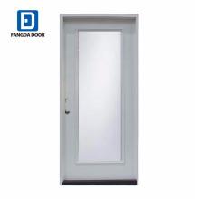 Fangda descuento vidrio transparente puerta de vidrio llena interior