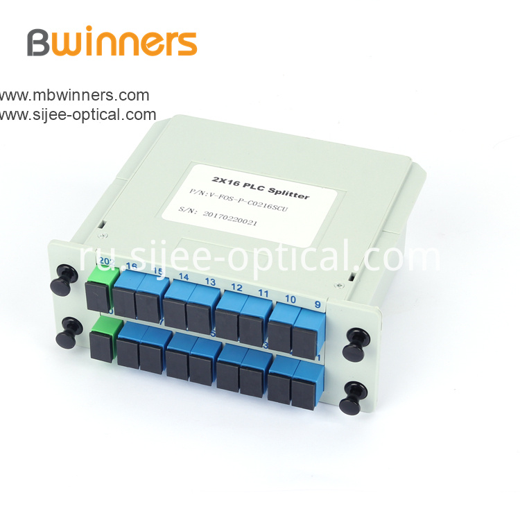Insertion Module 2x16 Plc Splitter With Sc Upc Connector