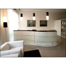 High Glossy Curved Shape Beauty Salon Reception Desk (HF-R012)