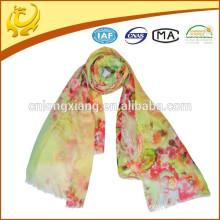 ODM benutzerdefinierte Probe Probe Dame Wolle gedruckt Schal