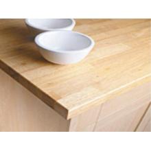 Encimeras de cocina de madera de caucho de alta calidad