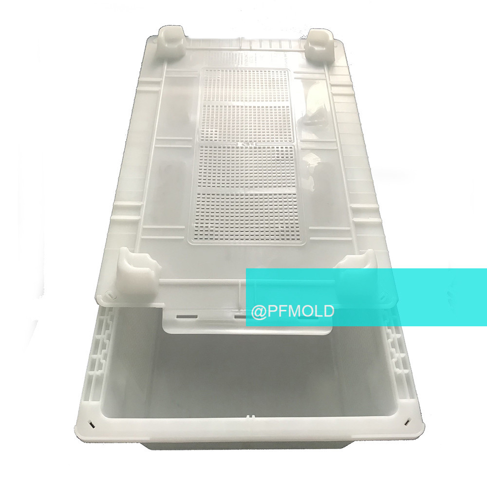 slide cover crate YUDO hot runner mold