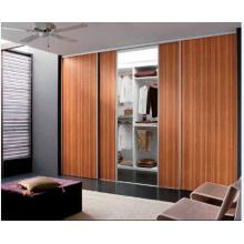 Puerta corrediza y armario decorativo, puerta de madera maciza para el dormitorio