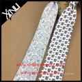 Black White Satin Perfect Neck Knot Coloring Book Silk Mens Sublimation Tie