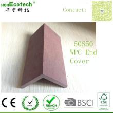 Sockelleiste für Holzdecks Anti Fading Waterproof WPC Endabdeckung mit Clips