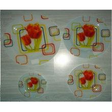 "10""Square glass plate"
