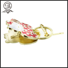 Gold Hello Kitty Photo clip keychain metal